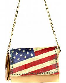 Montana West Vintage America Flag Crossbody Handbag