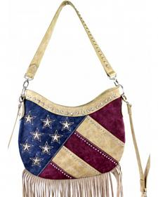 Montana West America Pride Fringe Hobo Bag