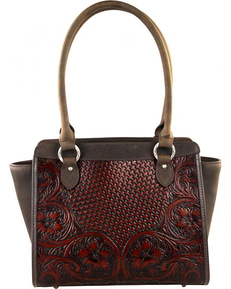 LEA-6014 CF  MONTANA WEST-DELILA 100% GENUINE LEATHER TOOLED COLLECTION