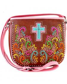 Montana West Spiritual Collection Cut Out Pattern with Embroidery Crossbody Bag