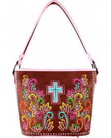 Montana West Cut Out Patten with Embroidery Spiritual Collection Handbag