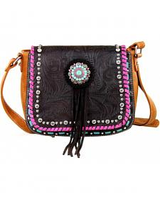 Montana West Concho Collection Crossbody Bag