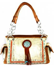 Montana West Concho Collection Satchel Bag