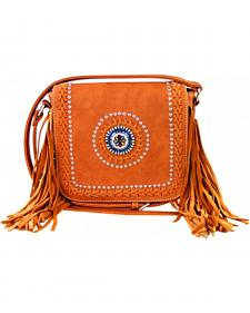 Montana West Braided Lacing Fringe Collection Crossbody Bag