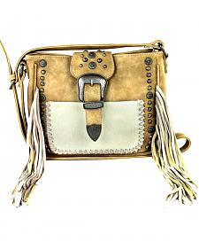 Montana West Trinity Ranch Belt Buckle Crossbody Handbag