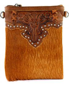 Montana West 100% Genuine Leather Clutch/Crossbody Bag