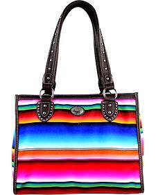 Montana West Women's Horizontal Stripe Serape Concealed Carry Tote Bag