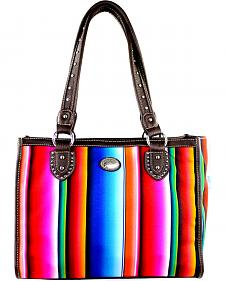 Montana West Women's Stripe Serape Concealed Carry Tote Bag