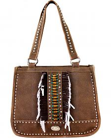 Montana West Women's Indian Beaded Double Strap Concealed Carry Handbag