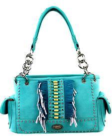 Montana West Women's Indian Beaded Fringe Concealed Carry Handbag