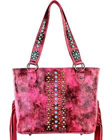 Montana West Pink Fringe Collection Concealed Handgun Handbag