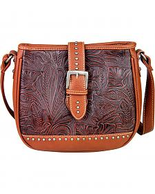Montana West Trinity Ranch Buckle Design Concealed Handgun Collection Messenger Bag