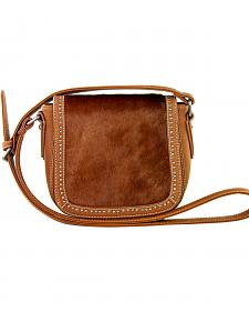 Montana West Trinity Ranch Genuine Cow Hide Saddle Bag