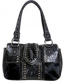 Montana West Trinity Ranch Concealed Handgun Collection Handbag with Tooling and Cowhide