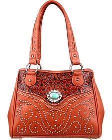 Montana West Trinity Ranch Tooled Design Handbag