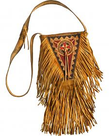 Kobler Leather Khaki Painted Handbag