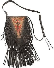 Kobler Leather Black Painted Handbag