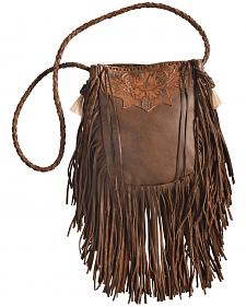 Kobler Leather Tan Hand-Tooled Pouch Bag