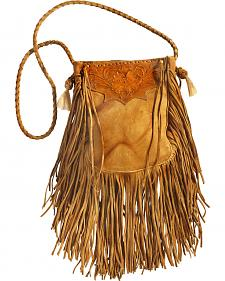 Kobler Leather Khaki Hand-Tooled Pouch Bag