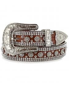 Angel Ranch Women's Rhinestone Gator Print Belt