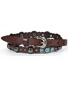 Shyanne Women's Turquoise Studded Belt