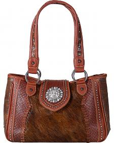 Shyanne Women's Embossed Hair-on-Leather Handbag
