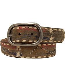 Roper Women's Tan Americana Print Belt