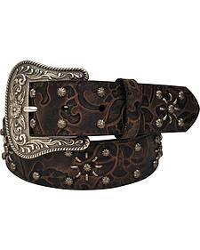 Roper Women's Brown Floral Print Belt