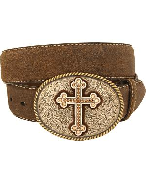 Nocona Cross Vintage Distressed Leather Belt