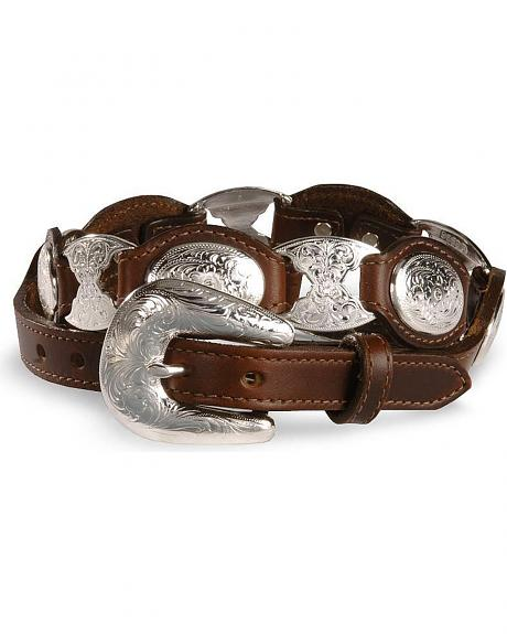 Tony Lama Concho Link Leather Belt