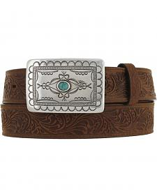Tony Lama Navajo Spirit embossed leather belt