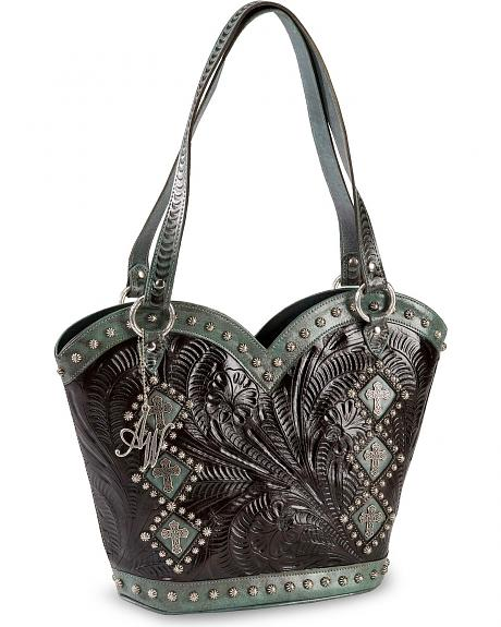 American West Boot Scoot Boogie Leather Tote
