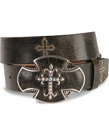 Justin Bent Rail Distressed Leather Western Belt