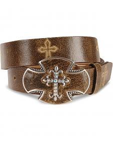 Justin Bent Rail Distressed Leather Belt
