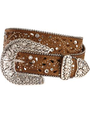 Justin Palazzo Bling Leather Belt