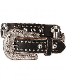 Blazin Roxx Bling Cross Leather Belt