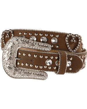 Blazin Roxx Bling Heart Belt