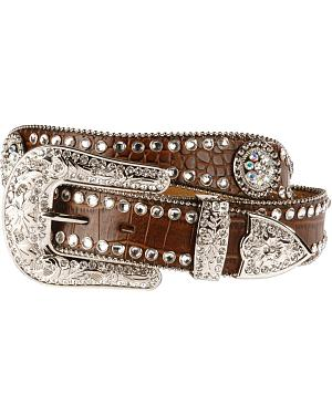 Blazin Roxx Scalloped Croc Print Belt