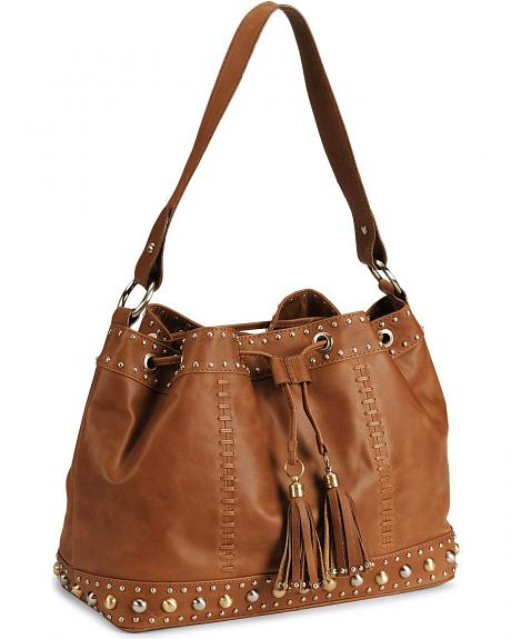 Western Trenditions Studs & Stitches Drawstring Bag