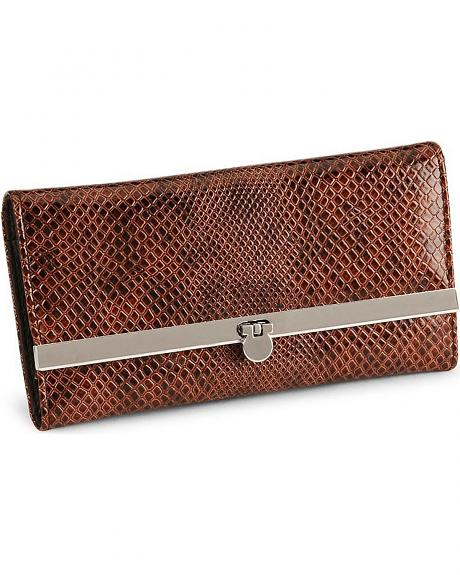 Way West Laredo Snake Print Western Wallet