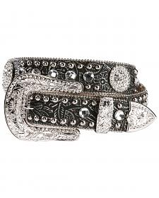 Blazin Roxx Black Tooled Concho Belt