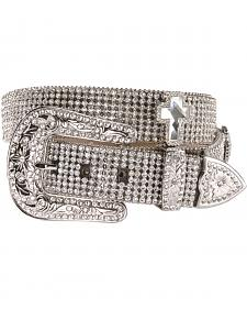 Nocona Rhinestone Cross Buckle Belt