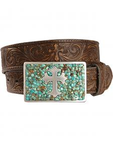 Nocona Cross Buckle Leather Belt