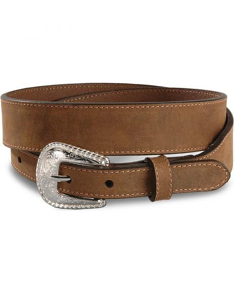 Nocona Distressed Brown Leather Belt