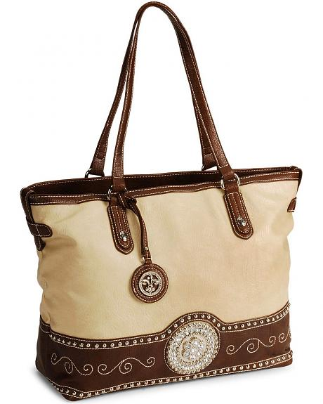 Western Concho Tote Bag