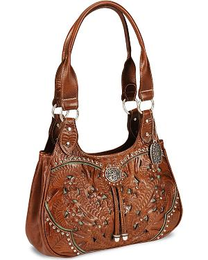 American West Lady Lace Tote Handbag