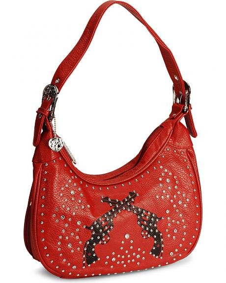 Bandera Red Pistol Shoulder Handbag