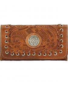 American West Harvest Moon Tri-Fold Leather Wallet
