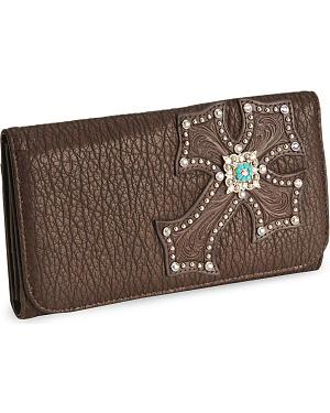 Blazin Roxx Embellished Cross Wallet