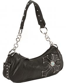 Blazin Roxx Black Cross Overlay Handbag